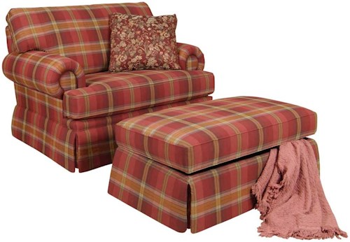 England Clare Accent Chair And Skirted Ottoman Colder S