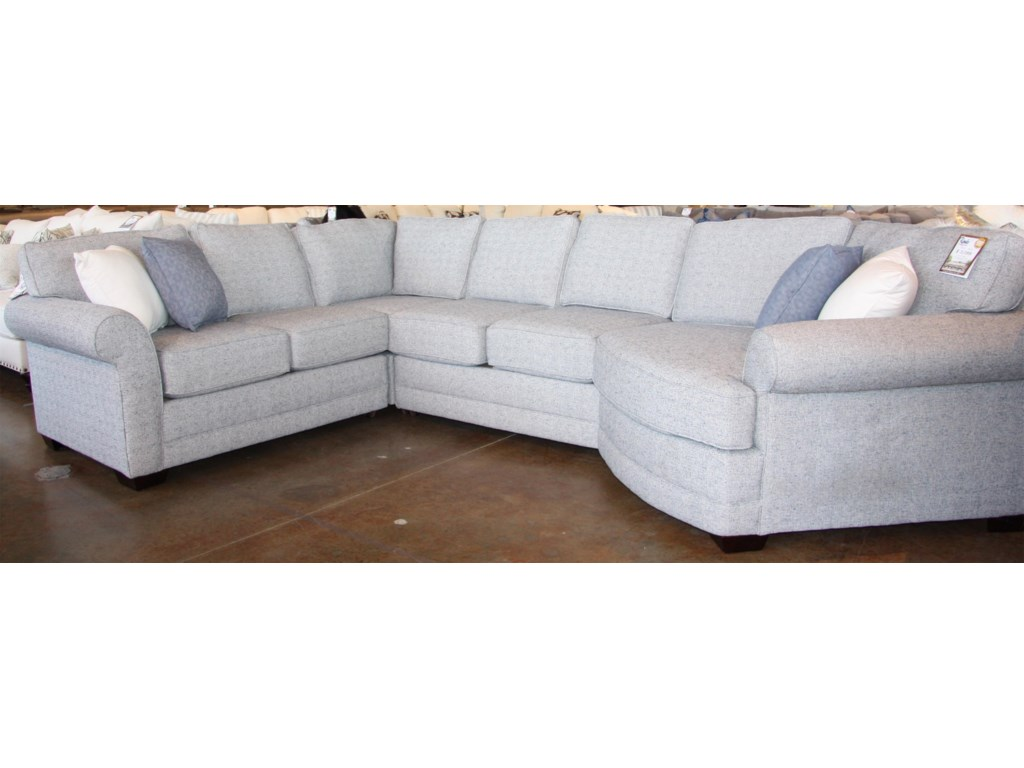 England Brantley4 PC Sectional with Cuddler