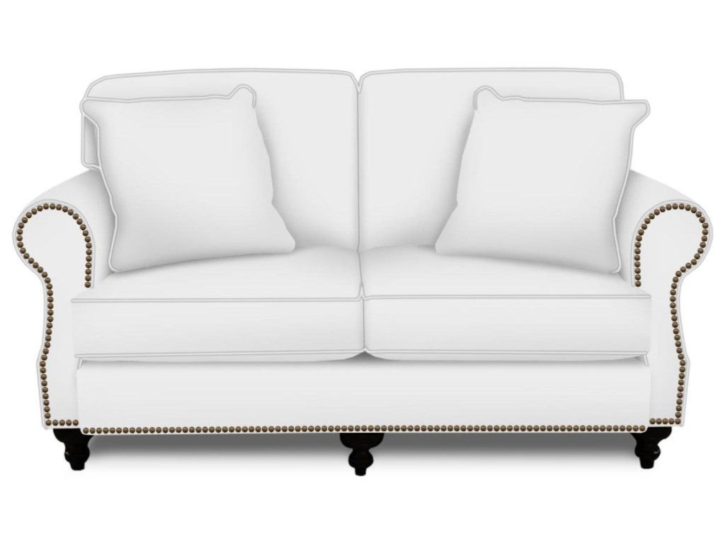 England LaylaLoveseat with Nailhead Trim