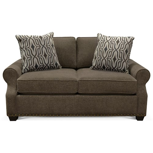 England Adele Loveseat with Nailheads