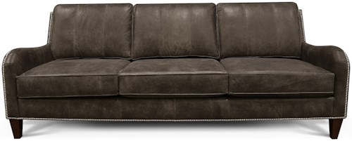 England Alice All Leather Sofa with Nailhead Trim