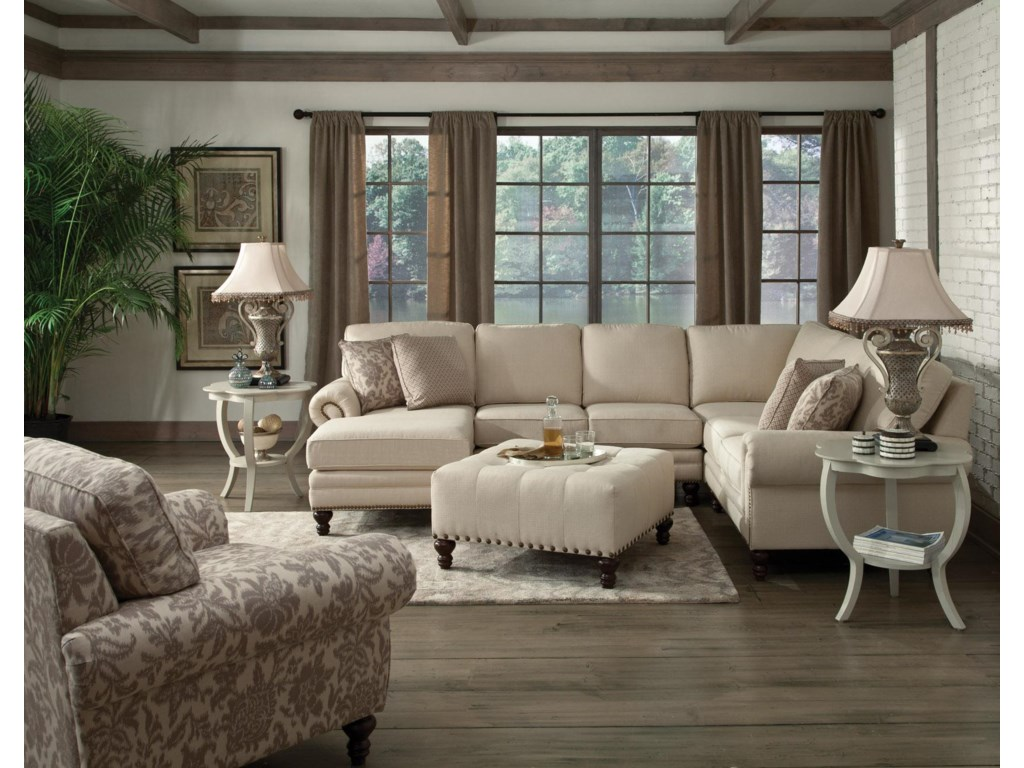 England Amix Six Seat Sectional with Left Chaise