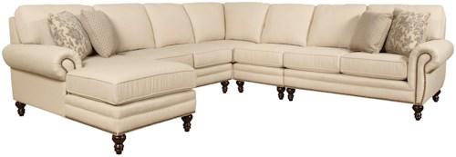 England Amix  Seven Seat Sectional Sofa with Left Side Chaise