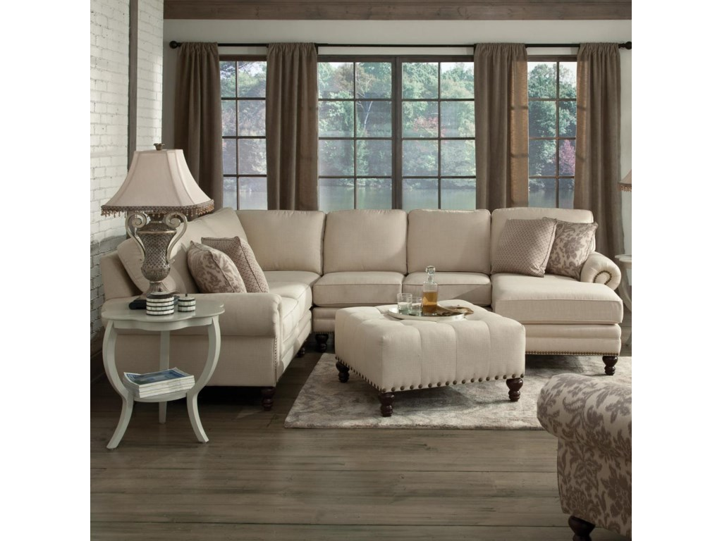 England Amix Six Seat Sectional with Right Chaise