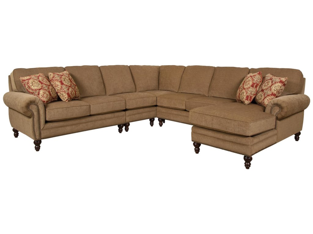 England Amix Seven Seat Sectional with Right Chaise