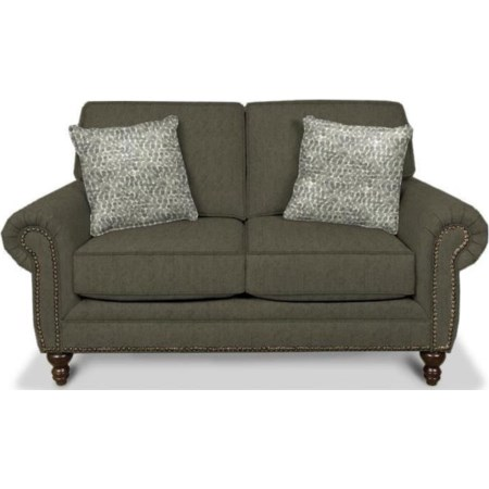 Traditional Styled Two Seat Loveseat