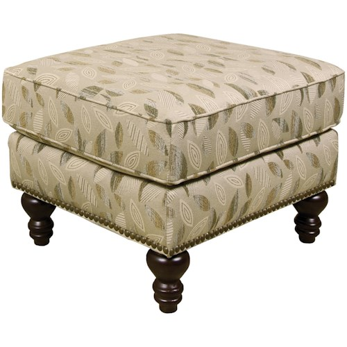England Amix  Traditional Styled Footrest Ottoman