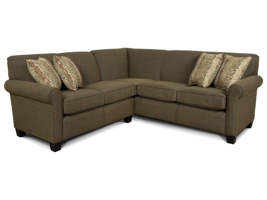 new concept d2d9a f60d7 England Angie Small Corner Sectional Sofa | Jordan's Home ...