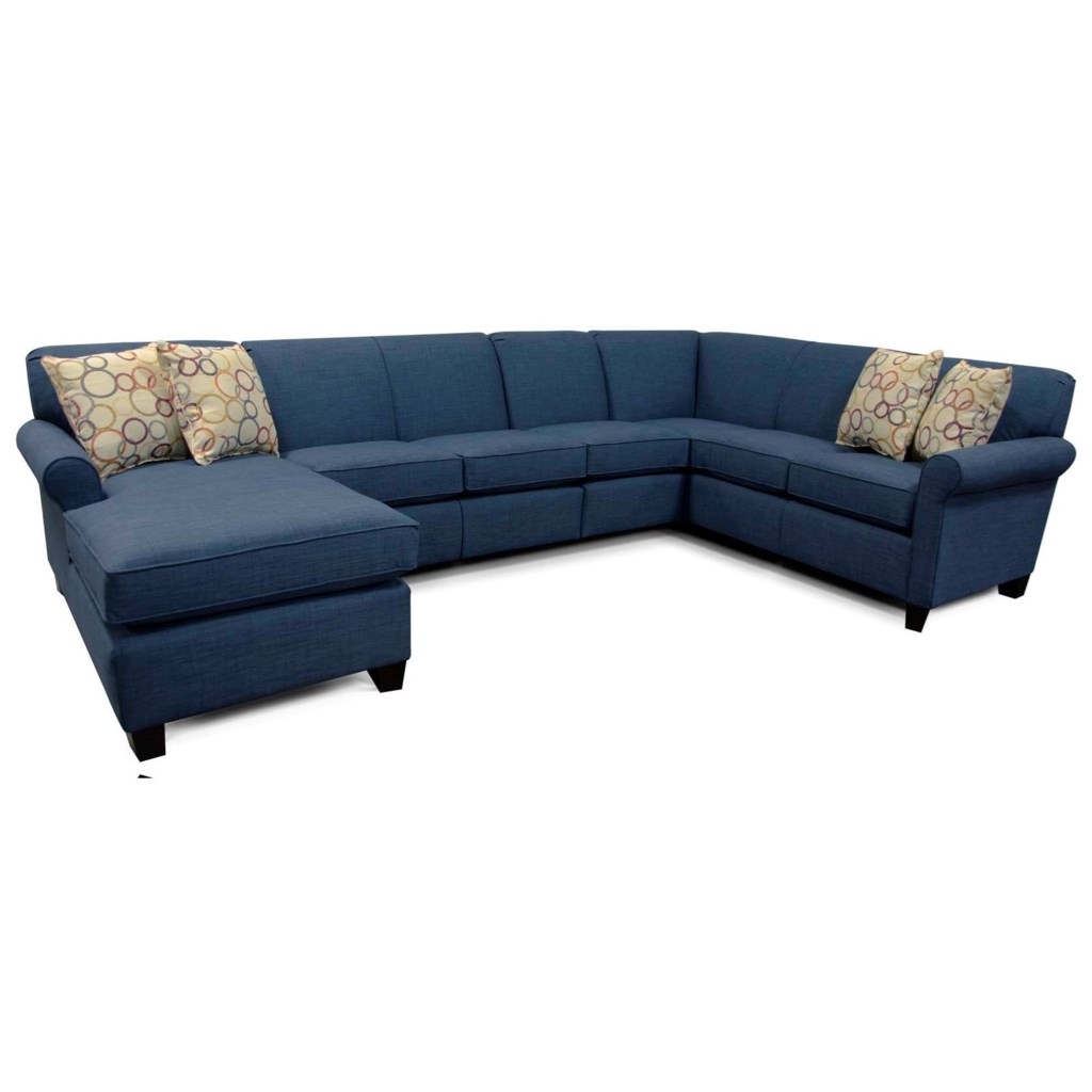 Angie sectional sofa with 6 seats and chaise by england