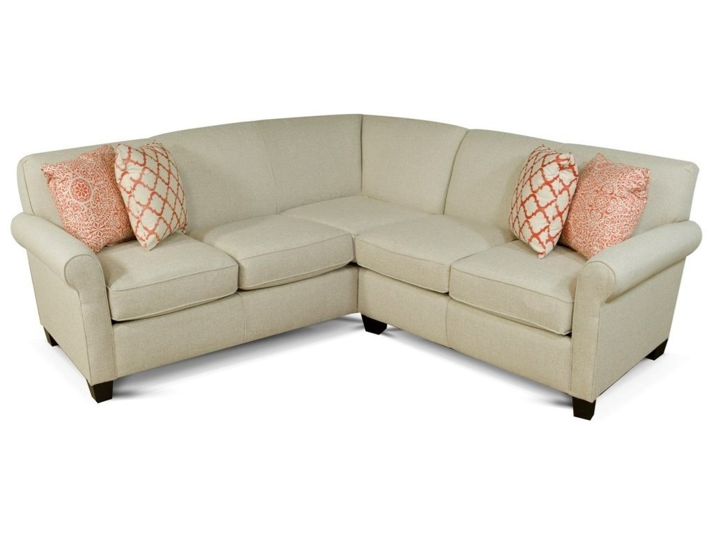 Angie Small Corner Sectional Sofa by England at Rooms and Rest