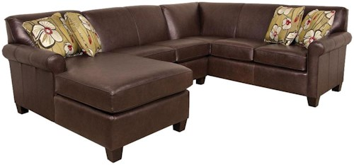 England Lilly Long Sectional Sofa with Chaise