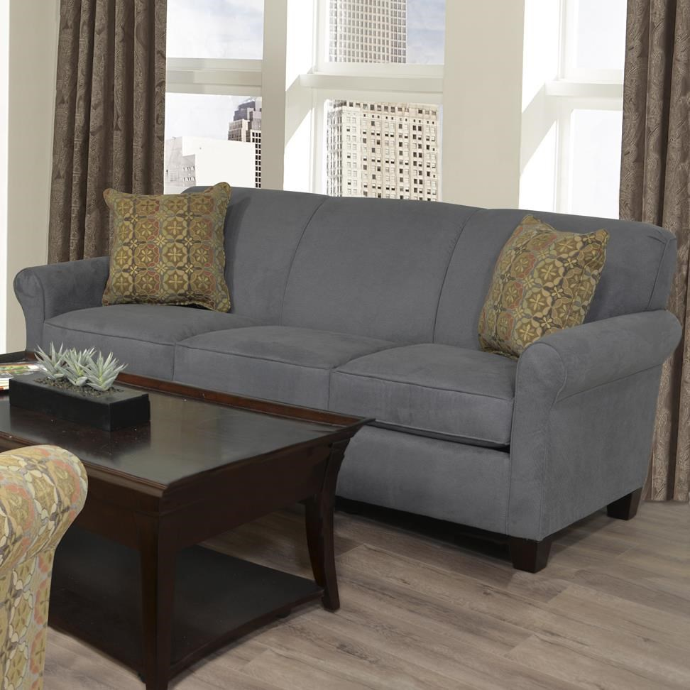 Bon England Angie Casual Rolled Arm Sofa With Accent Pillows