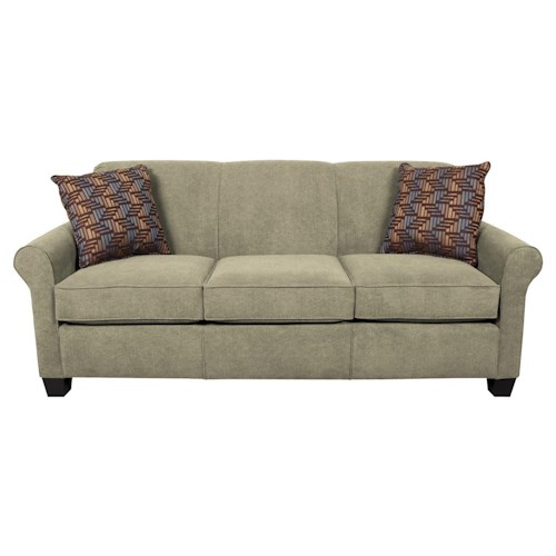England Angie  Casual Rolled Arm Sofa With Accent Pillows