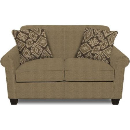Rolled Arm Love Seat