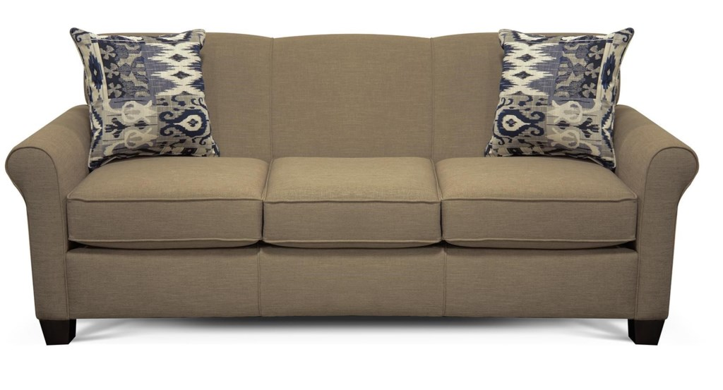 England Angie 4639 Air Queen Sleeper Sofa With Accent Cushions