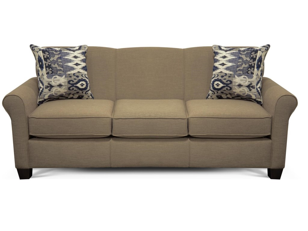 Angie Air Queen Sleeper Sofa With Accent Cushions By England At Dunk Bright Furniture