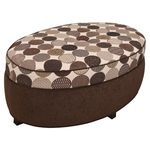England Olivia Olivia Oval Storage Ottoman for Living Room Footrest with Storage  Space - England Olivia Olivia Oval Storage Ottoman For Living Room