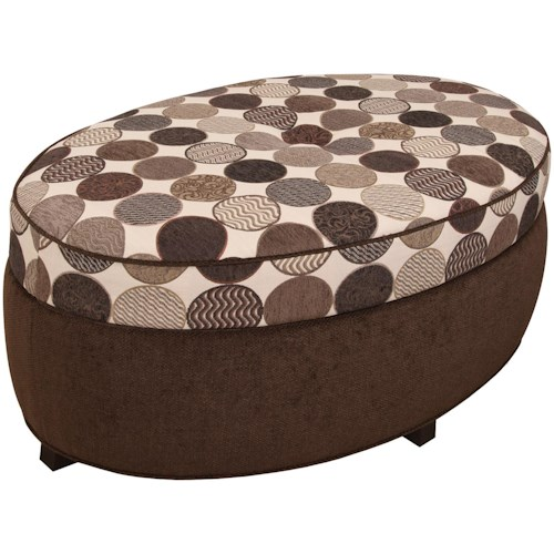 England Olivia Olivia Oval Storage Ottoman for Living Room Footrest with Storage Space