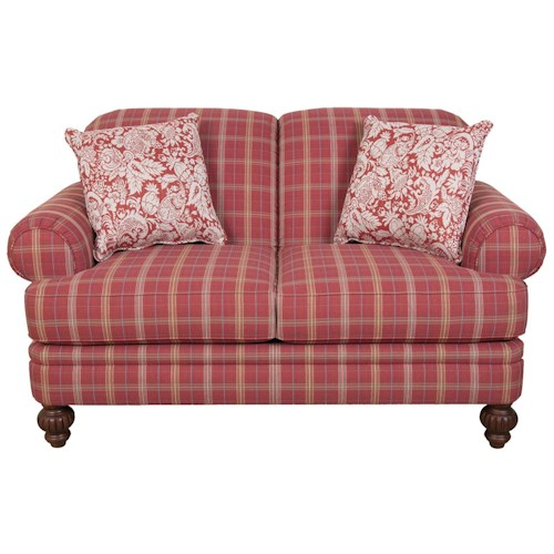 England Bill Cottage Styled Loveseat with Clean Transitional Lines