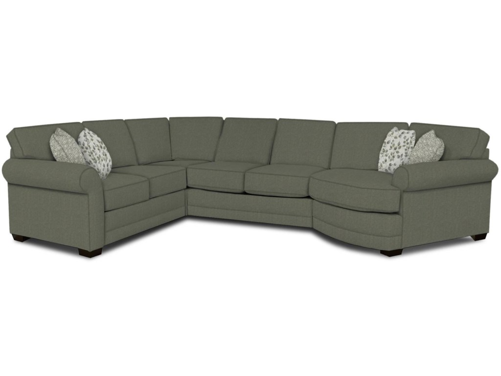 The a series adele sectional with cuddler by england