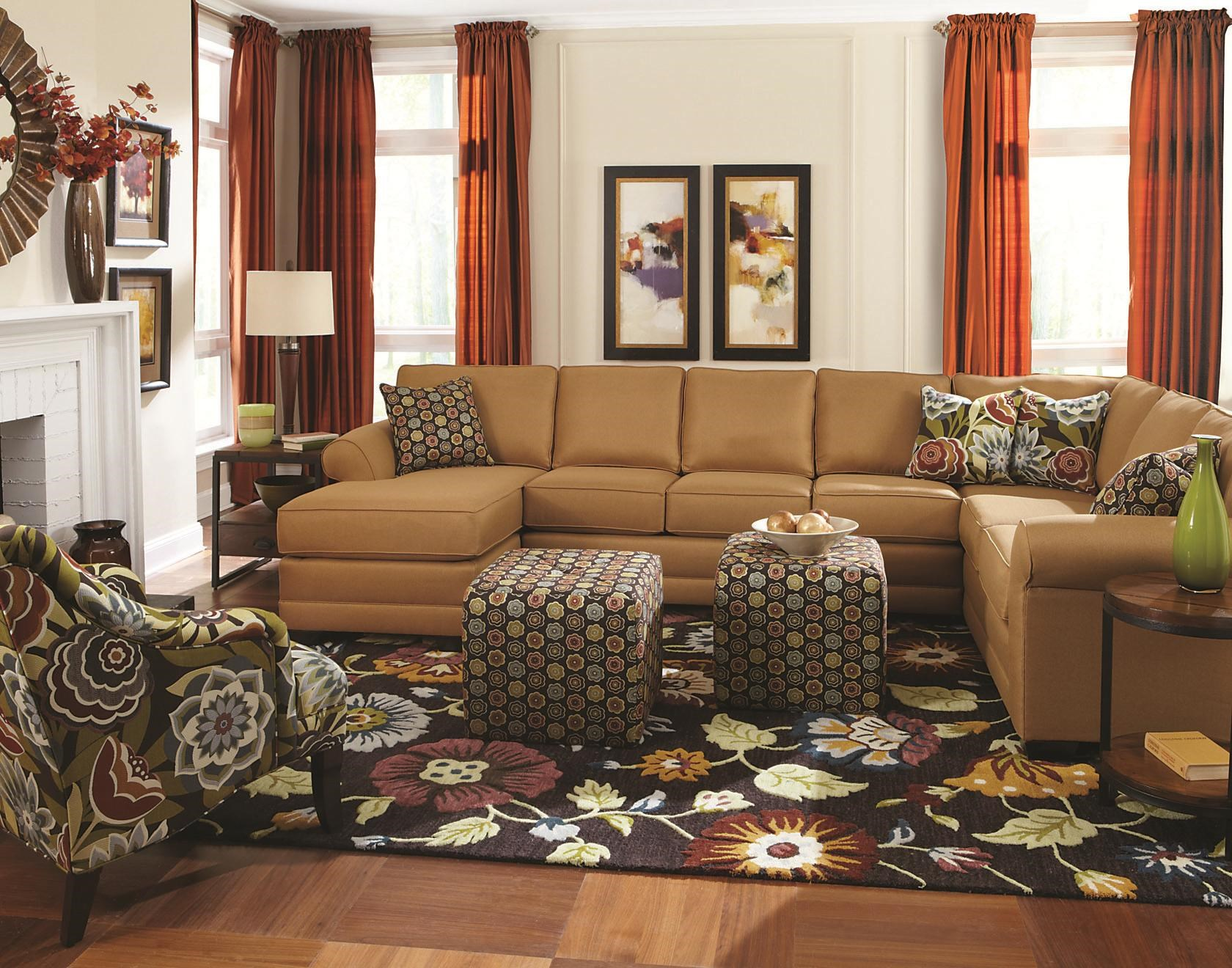 England Brantley 6 Seat Sectional with Chaise  sc 1 st  Colderu0027s : colders sectionals - Sectionals, Sofas & Couches