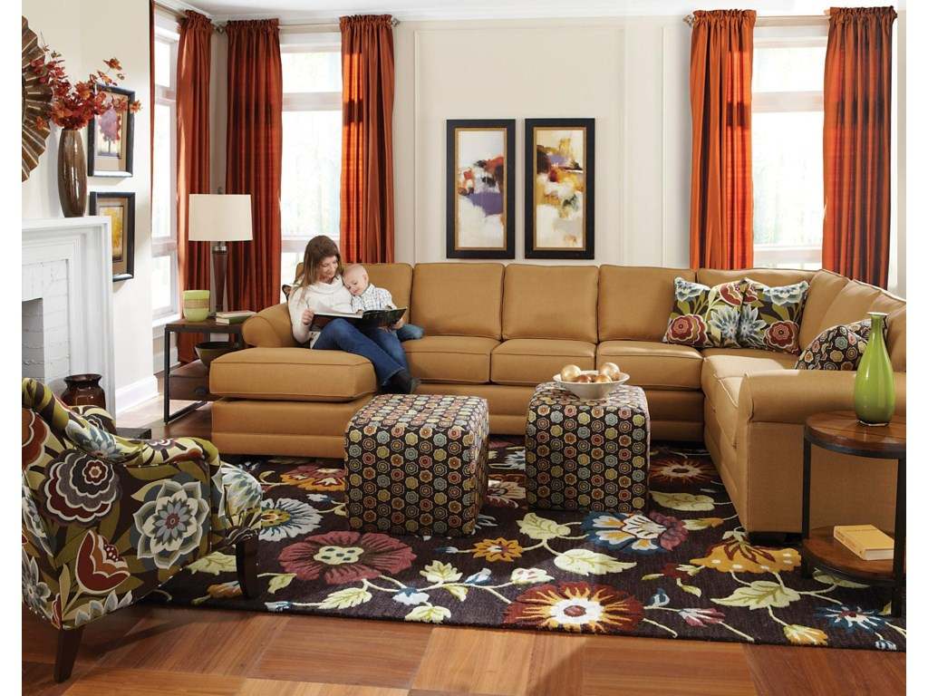 England Brantley6 Seat Sectional with Chaise