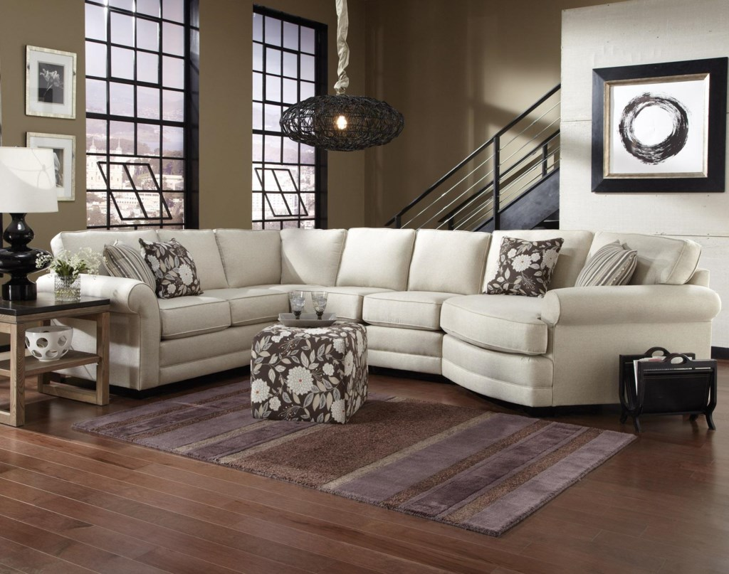 England Brantley 5 Seat Sectional Sofa With Cuddler Dunk  ~ Sectional Sofa With Cuddler