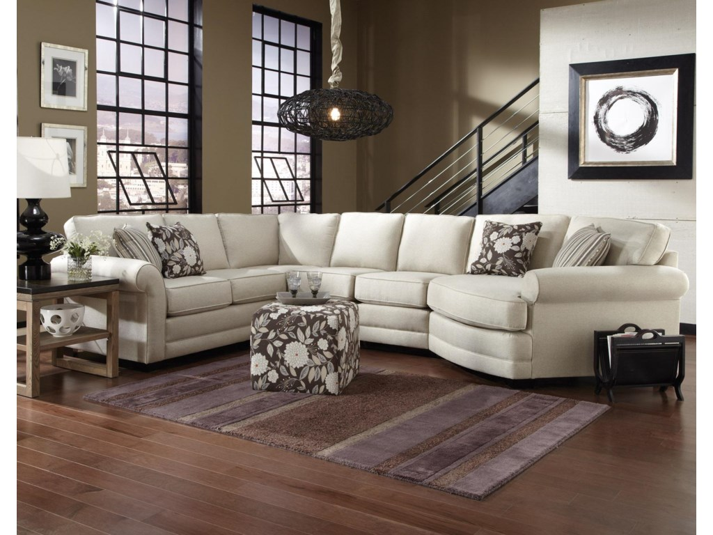 england brantley 5 seat sectional sofa with cuddler dunk bright