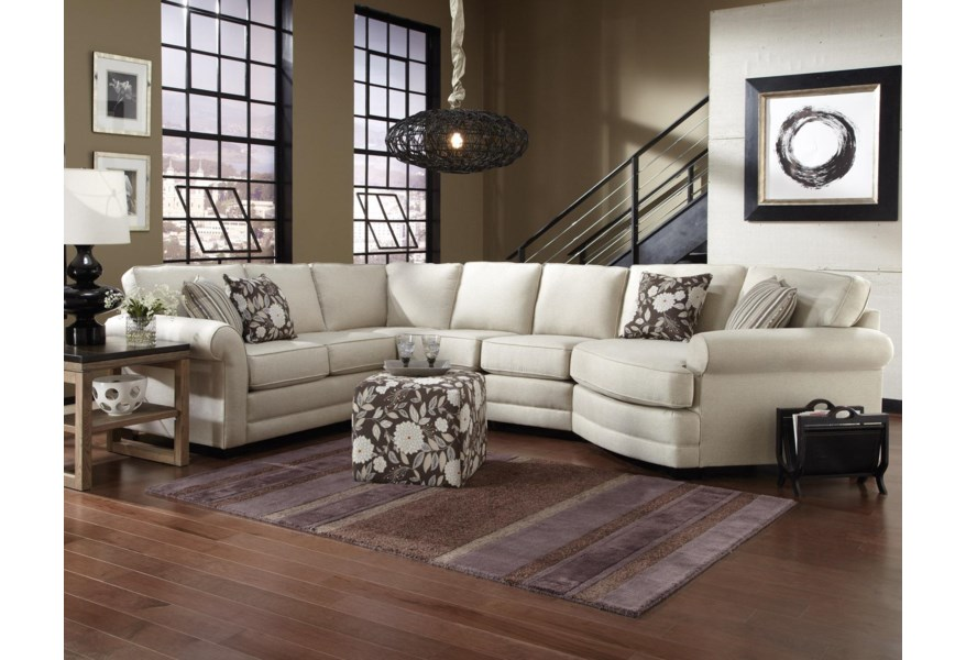 Brantley 5 Seat Sectional Sofa Cuddler