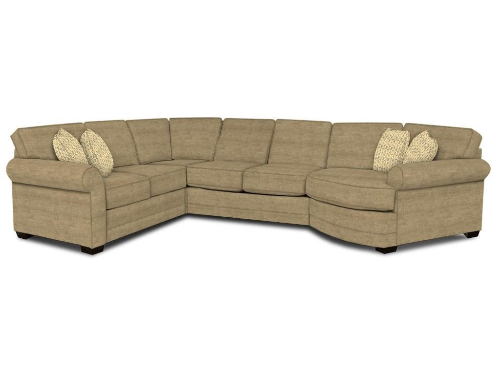 England Brantley4-Piece Cuddler Sectional