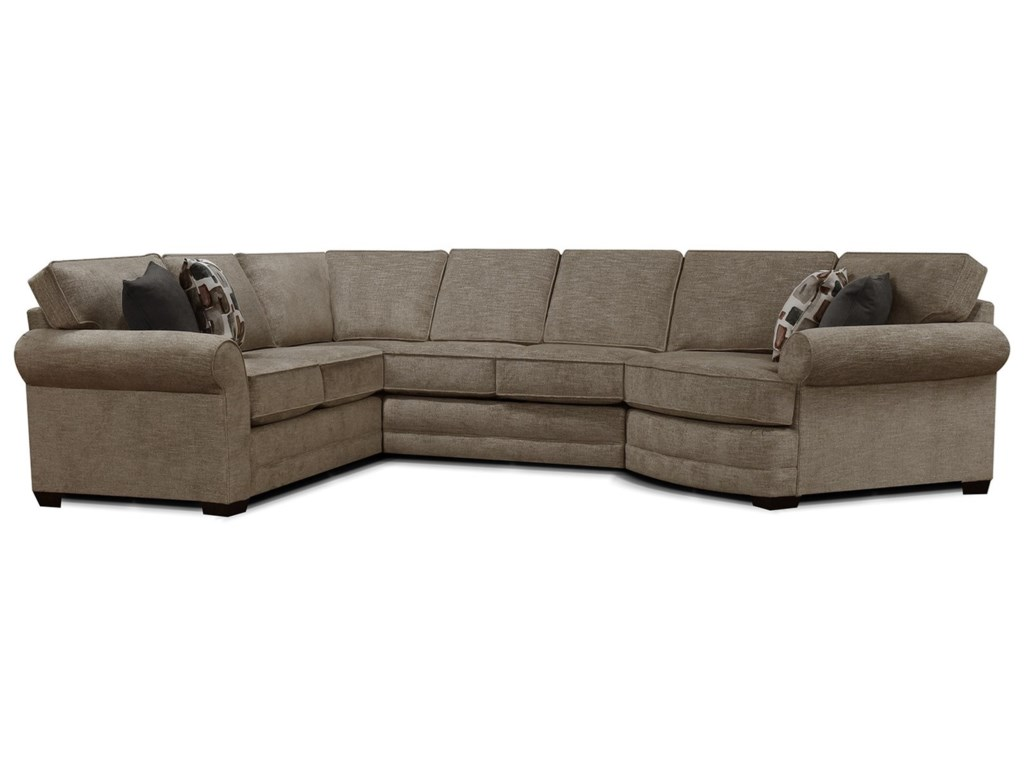 England Brantley 5630-SECT 5 Seat Sectional Sofa with Cuddler | Dunk ...