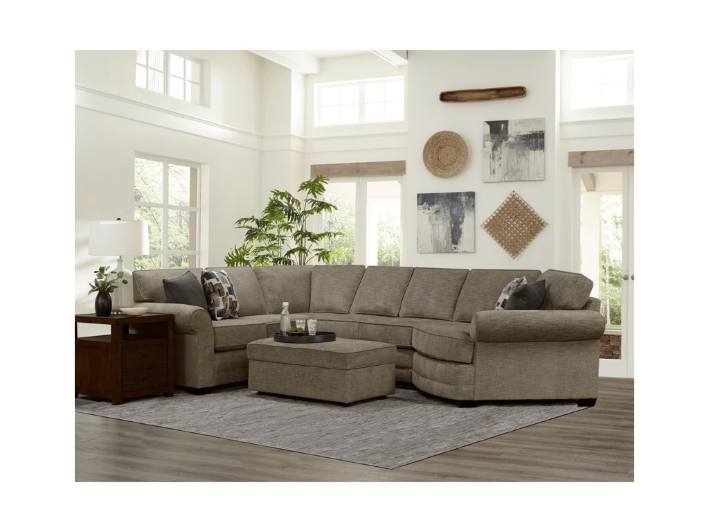 England Brantley5 Seat Sectional Sofa Cuddler
