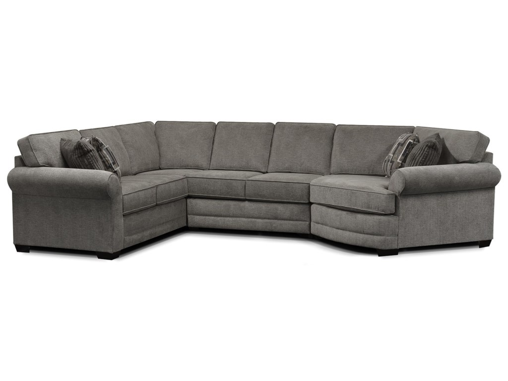 Sofa With Cuddler Carena 4 Pc Fabric Sectional Sofa With ...