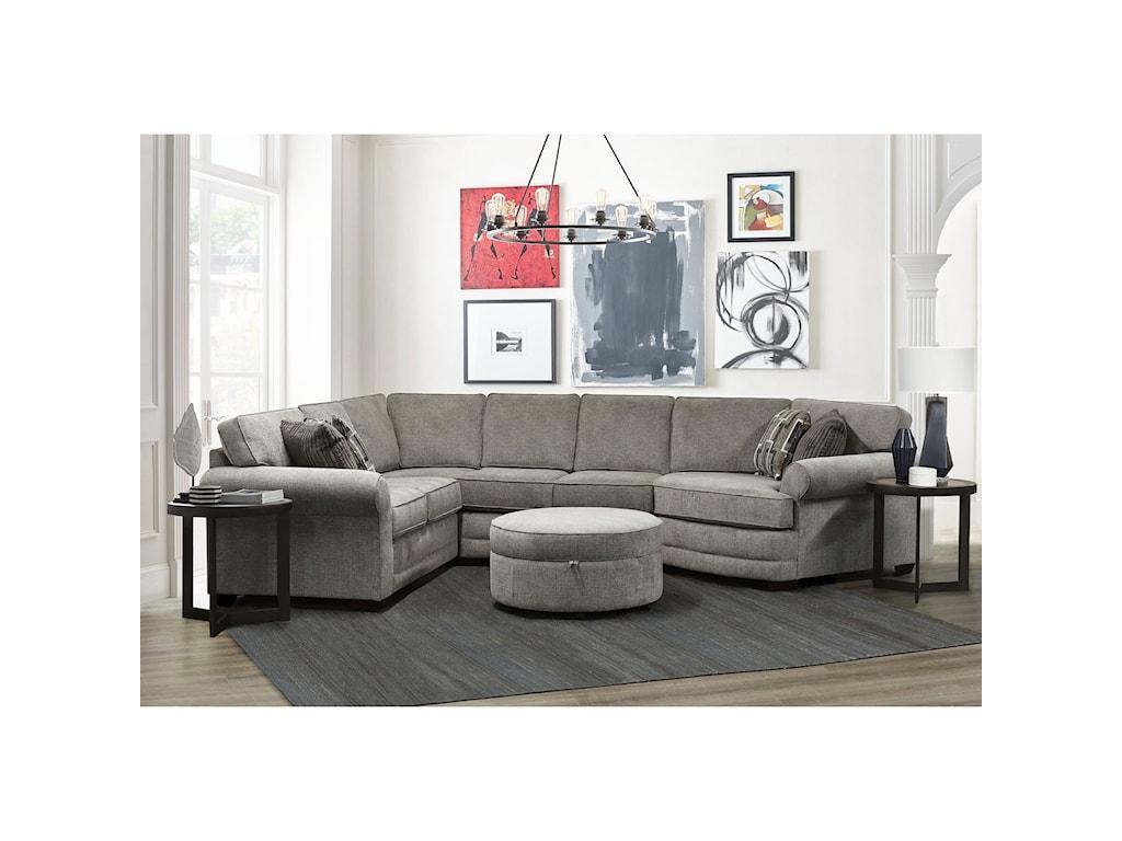 England Brantley5 Seat Sectional Sofa Cuddler