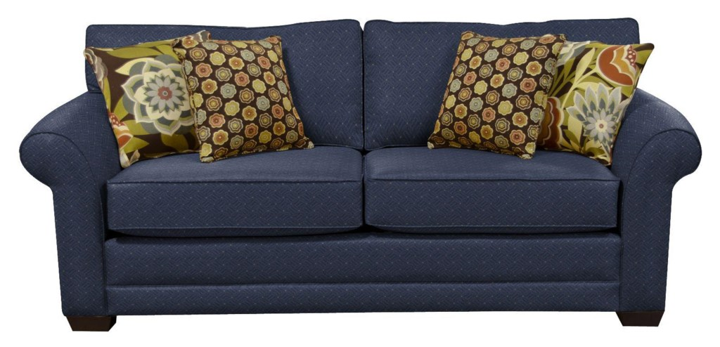 england brantley upholstered stationary sofa | virginia furniture