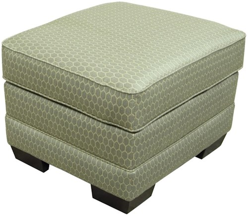 England Brantley Upholstered Ottoman with Exposed Feet