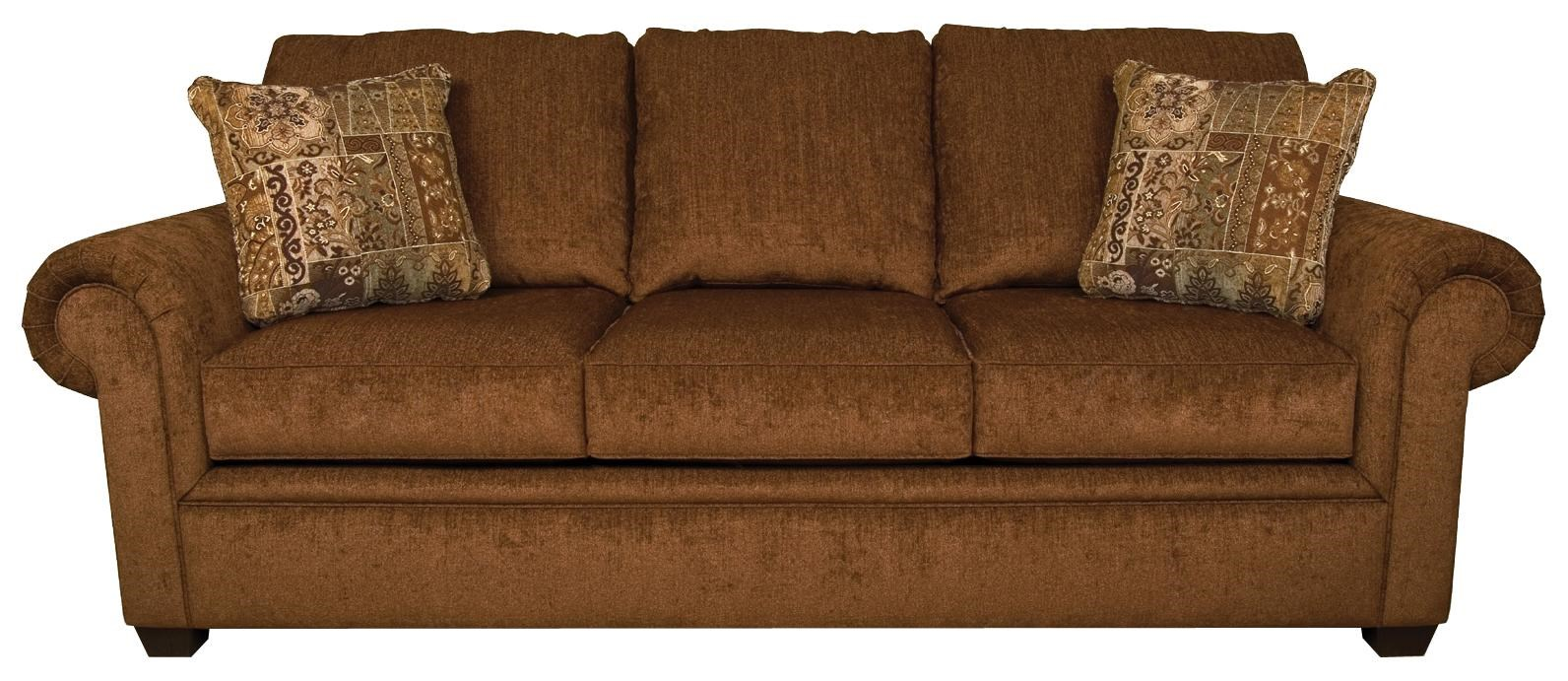 England Brett Rolled Arm Sofa With Exposed Block Legs