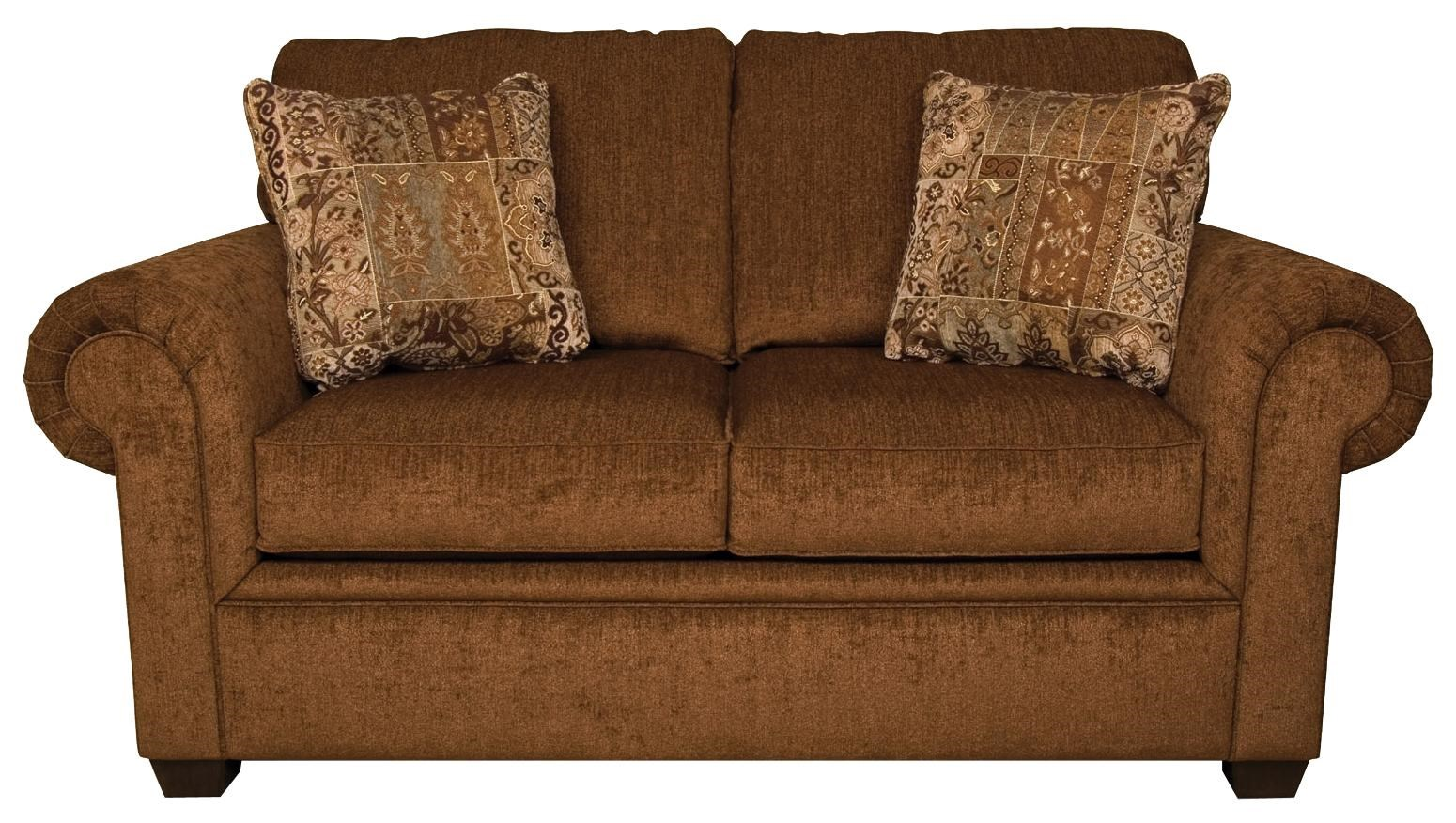england brett 2256 rolled arm loveseat with exposed block legs   great american home store   love seat england brett 2256 rolled arm loveseat with exposed block legs      rh   greatamericanhomestore