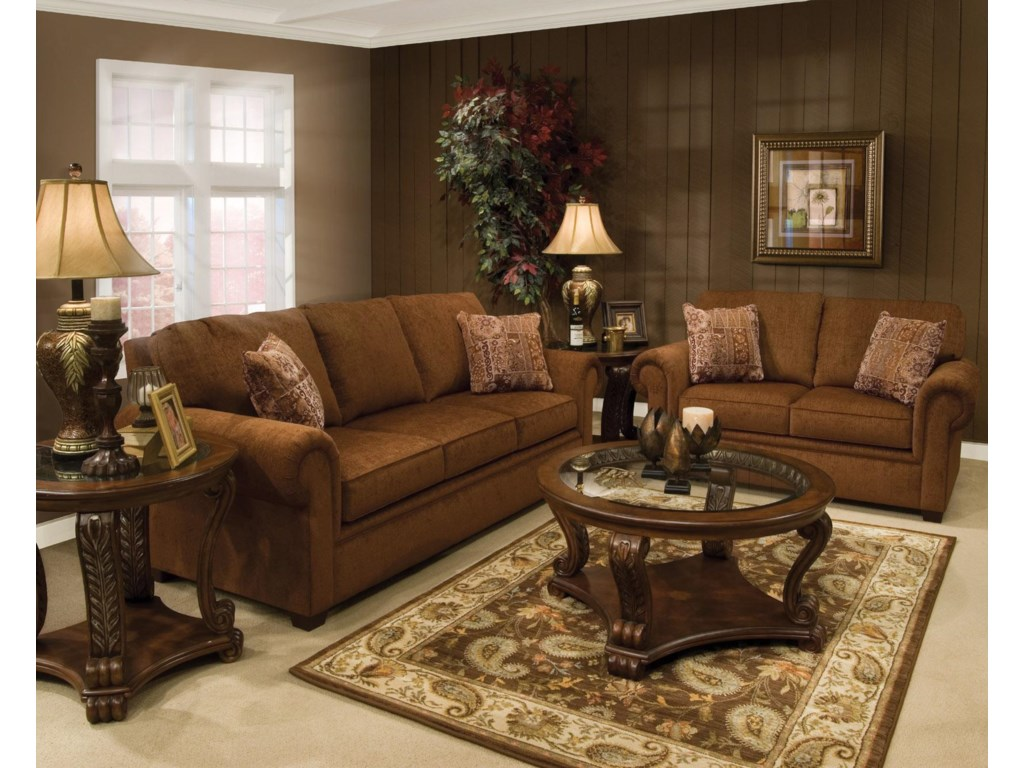 England BrettRolled Arm Loveseat