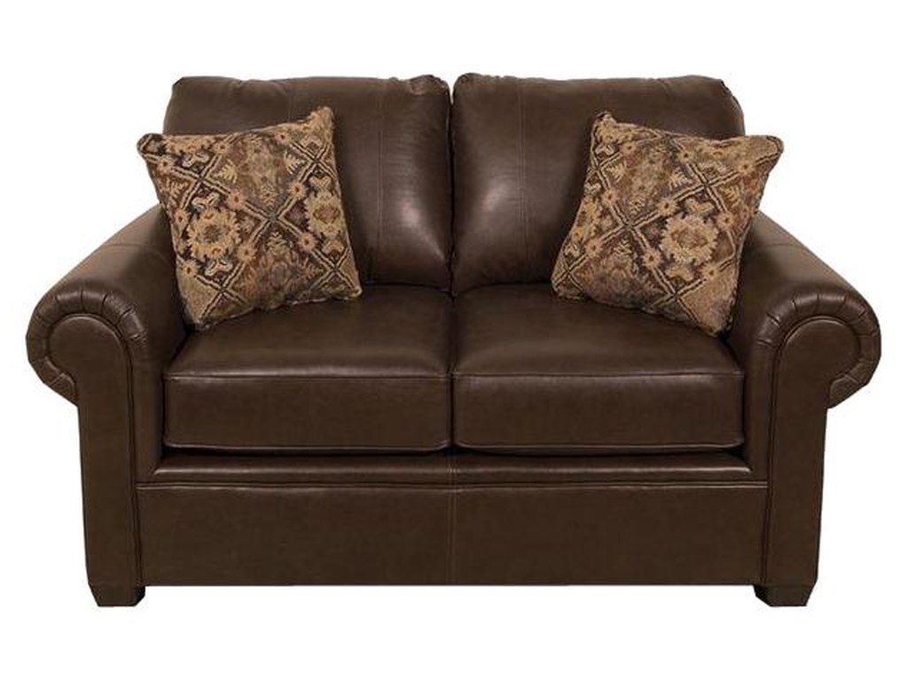 England Linton 2256AL Leather Loveseat with Casual Furniture ...