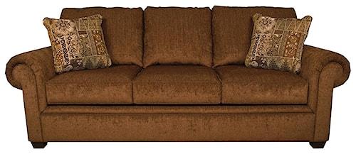 England Brett Air Mattress Queen Size Leather Sleeper Sofa