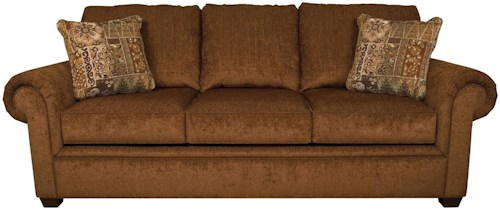 England Brett Queen Sleeper Sofa with Exposed Block Legs