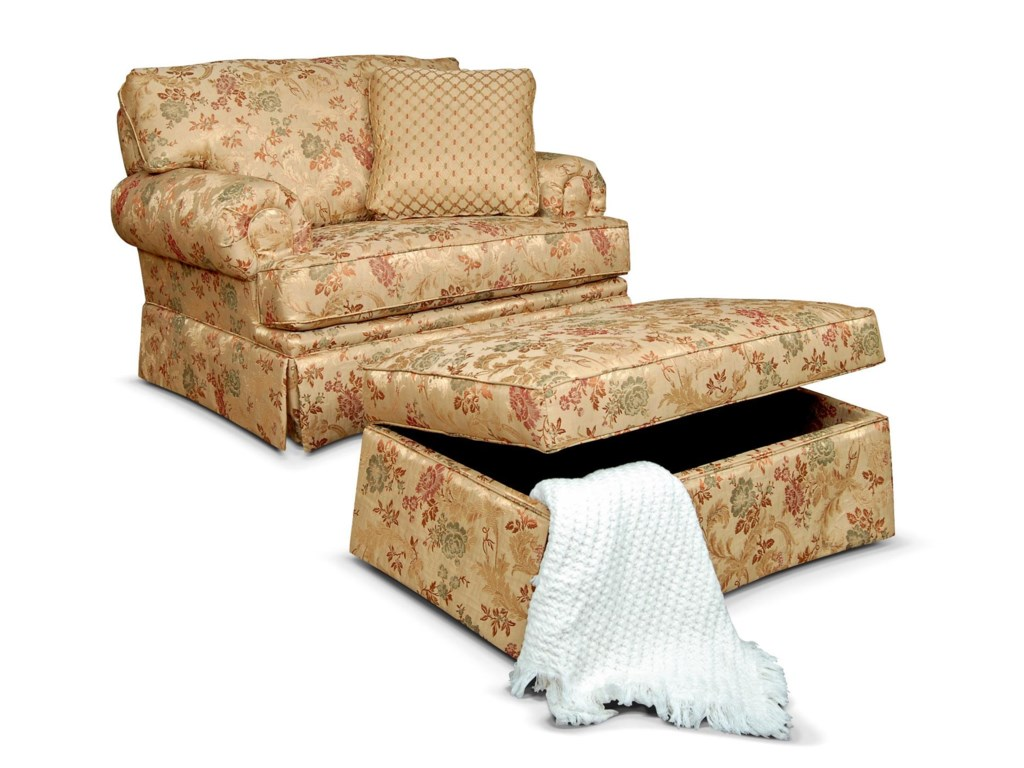 Shown with Storage Ottoman