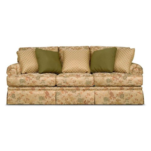 England cambria three over three upholstered sofa lindy for Furniture 500 companies