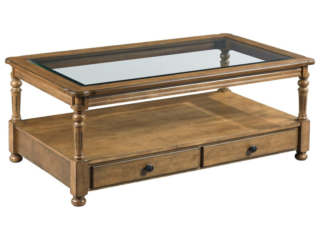 England CandlewoodRectangular Drawer Cocktail Table