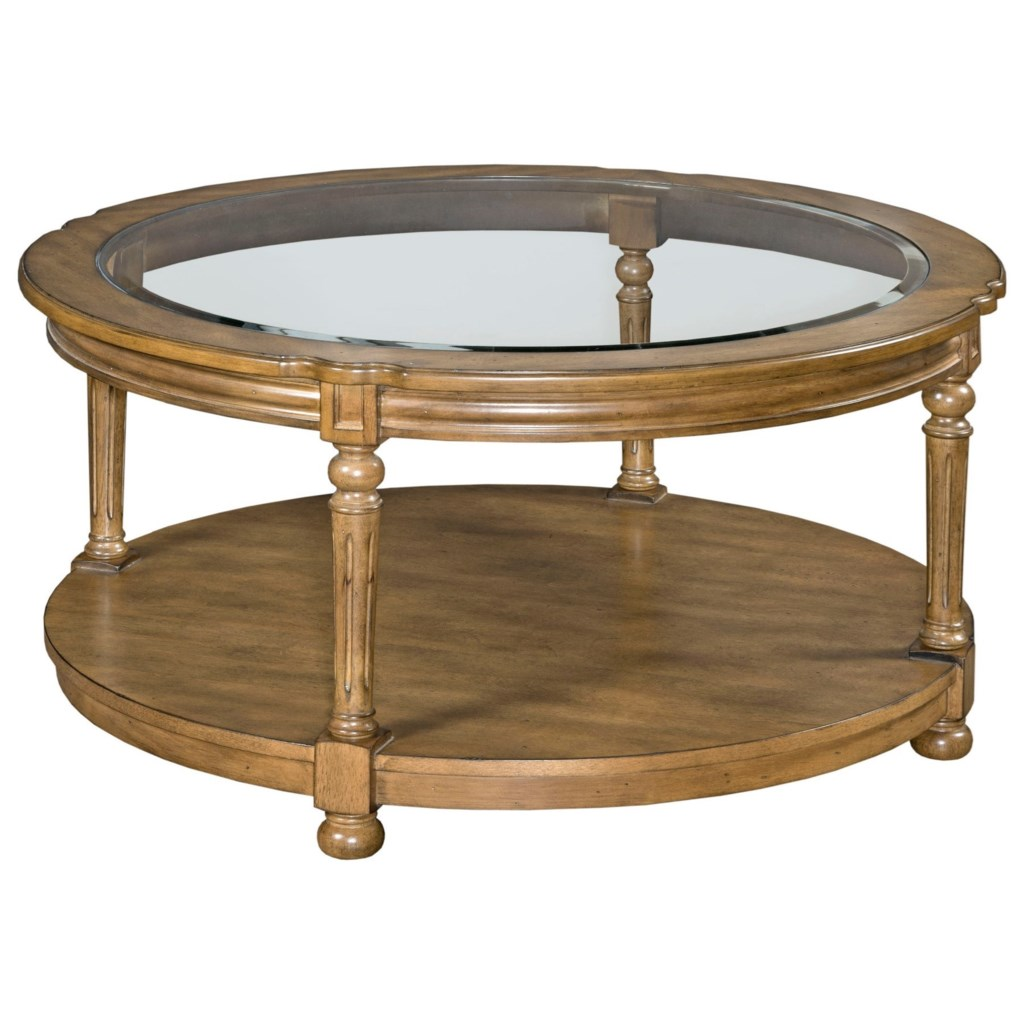 England Candlewood H676911 Round Cocktail Table With Casters