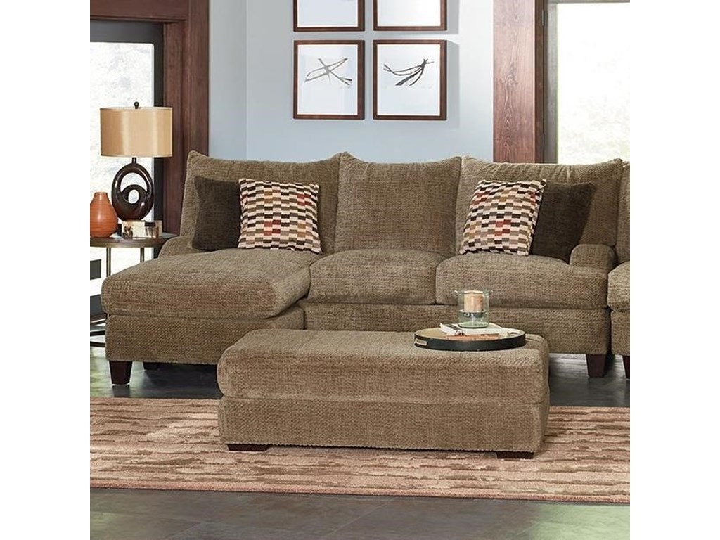 England Catalina 6n00 56 Contemporary Sofa With Floating Otto Chaise