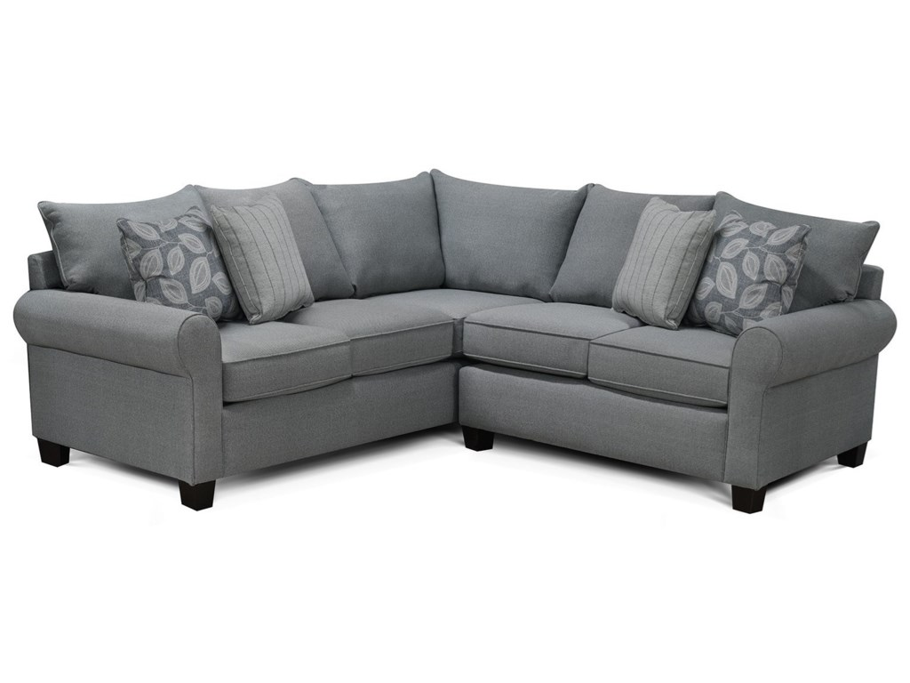 Sectional Sofa With Rolled Arms