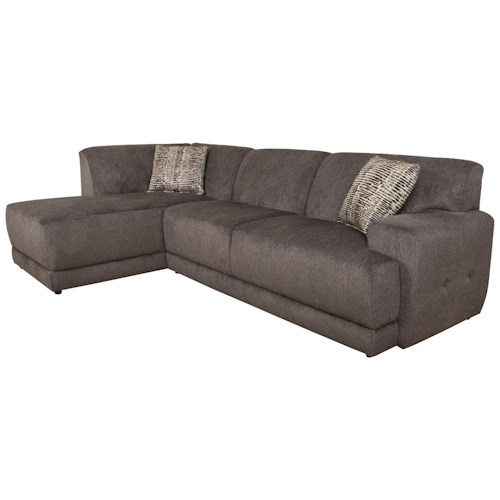 England Cole Contemporary Sectional Sofa With Left Facing
