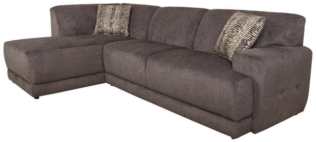 England Cole Contemporary Sectional Sofa With Left Facing Chaise